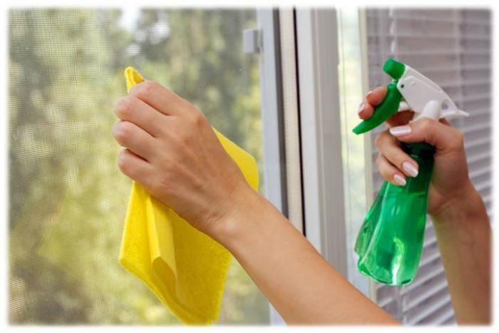 пластиковыми окнами, поверхности окон, этих целей